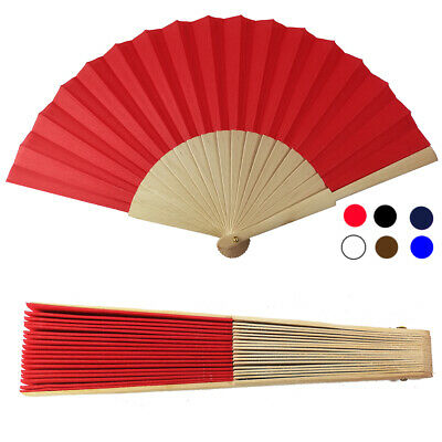 120 Fans Customizable Wedding Wood and Fabric Coloured Hand Fan 3200