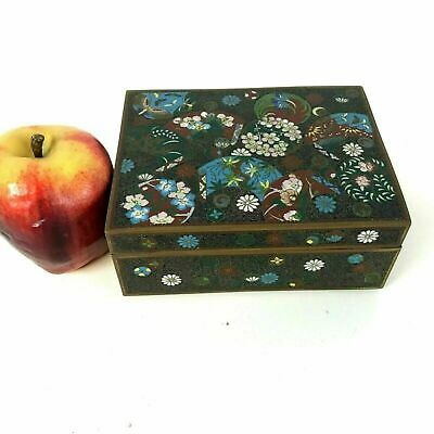 Antique Japanese Bronze Cloisonne Covered Box