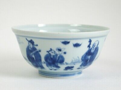 Fine antique Chinese 18th / 19th century blue & white porcelain bowl