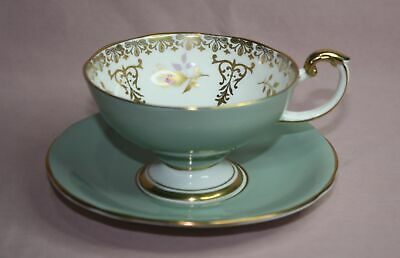 Collectible  Aynsley  Cup & Saucer Footed Bone China # 2052/4  England