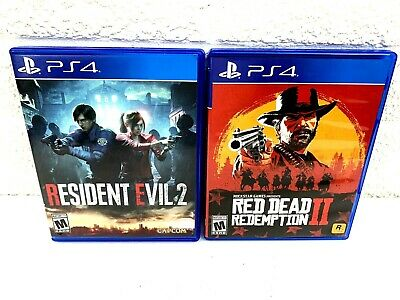 Resident Evil 2 Red Dead Redemption 2 PS4 Playstation 4 Bundle You Get Both!