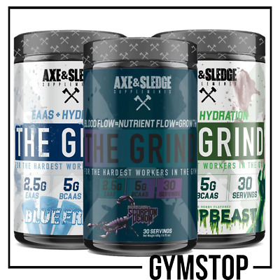 Axe & Sledge The Grind 480g BCAA Amino Acds EAAS BCAAs **FREE UK DELIVERY**