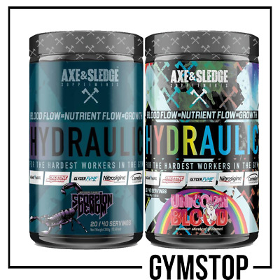 Axe & Sledge Hydraulic Pre Workout 380g **FREE UK DELIVERY** STIM-FREE