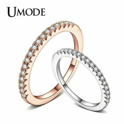 UMODE Eternity Engagement Promise Rings Wedding Band Rings for Women Femme