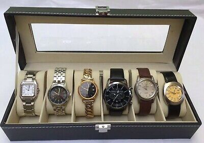 Joblot Of Vintage Branded Men Watches With  Display Box (Working Condition)