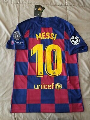 buy online 41fcd 91c67 LIONEL MESSI #10 FC Barcelona 2019/20 Home Jersey Champions League