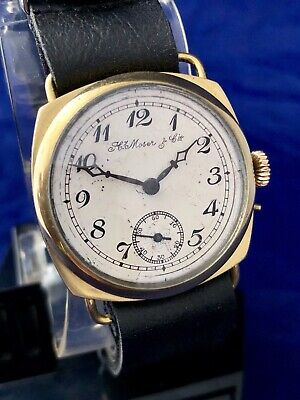 H. Moser & Cie Old Antique Art Deco Gold Filled Mens Watch Circa 1900-1920yrs