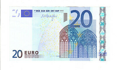 BILLET 20 EUROS FRANCE 2002 Mario DRAGHI L086E2