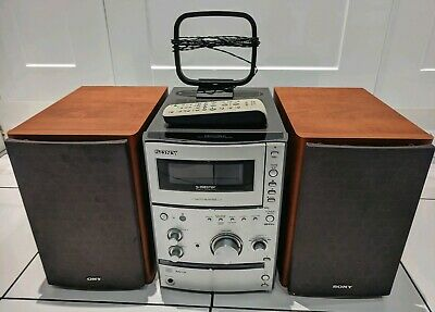 Sony Hcd-Cpx11 Micro System Compact Disc Deck Receiver Mp3 Player + Remote