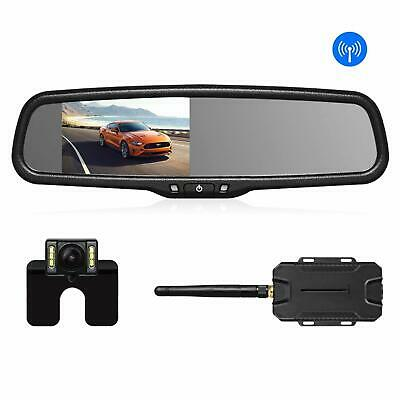 AUTO VOX Wireless Reverse Camera Kit Car with Rear View Mirror Monitor IP68