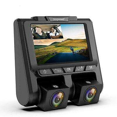 """TOGUARD Dual Lens Dash Cam FHD 1080P+1080P Front and Rear Dashcam 3"""" LCD 340°"""
