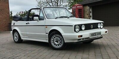 VW Golf mk1 convertible cabriolet Karmann gti white with 12 MONTHS mot