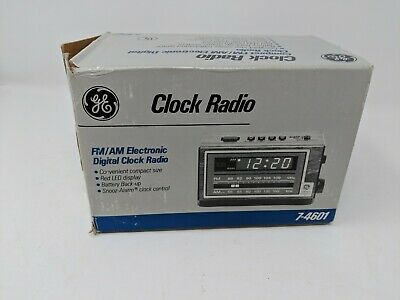 Vintage GE General Electric Model 7-4601A AM/FM Alarm Clock Radio - NEW OPEN BOX