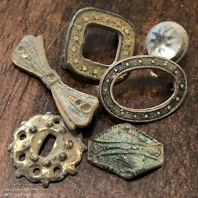 6 Rare Authentic European Artifacts Found With A Metal Detector Some W/ Stones
