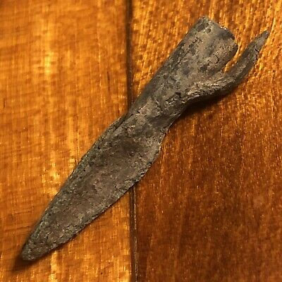Authentic Ancient Roman Or Greek Arrow Head Spear Point Artifact Europe Old