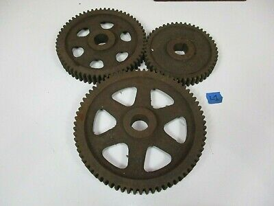 Vintage Industrial Steampunk Cast Iron Gear Sprocket Metal Art lamp base project