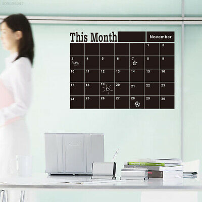 Monthly chalkboard Blackboard Removable Vinyl Wall Sticker Calendar Memo DIY