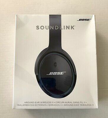 Bose Sound Link Around Ear Wireless Headphones II with Mic, Black