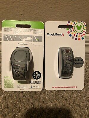 Disney Parks Main Street U.S.A. Limited Release Magic Band 2 Trolley Bus Train +