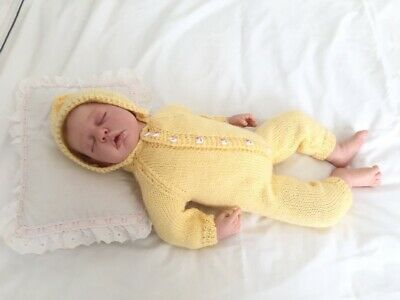 New knitted onsie to fit 20in-50cm Berenguer, Reborn or Baby Doll