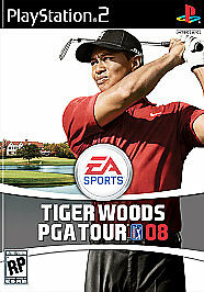 Tiger Woods PGA Tour 08 Sony PlayStation 2 2007 Ps2 Video Game Complete Cib
