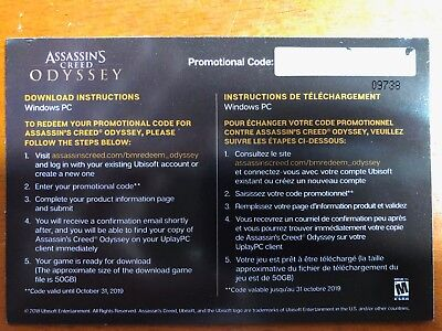 New Assassin's Creed: Odyssey Ubisoft Uplay Window PC Game Code Quick Delivery