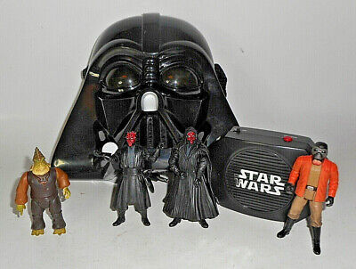 Star Wars Mixed Lot 4 Figures And Darth Vadar Talking Mask