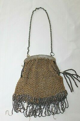 Beautiful Antique Flapper 1920's-30's Art Deco Fringed Beaded Pocketbook/Purse