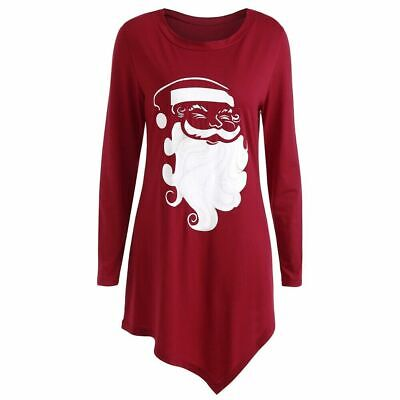 Plus Size Long Sleeve Graphic Christmas T-shirt