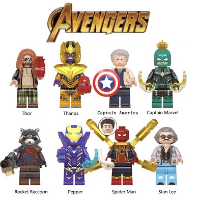 Avengers Minifigure Building Blocks Fits Lego End Game Iron Man Thanos Thor