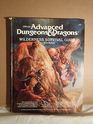 Advanced Dungeons & Dragons Wilderness Survival Guide (TSR 2020) Kim Mohan HC