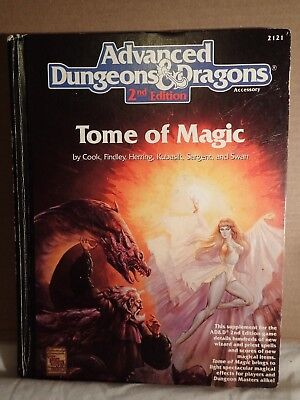 Advanced Dungeons & Dragons 2nd Edition Tome of Magic (TSR 2121) 1st printing