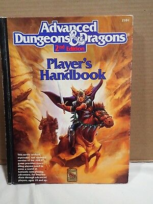 Advanced Dungeons & Dragons 2nd Ed Player's Handbook (TSR 2101) Display & play