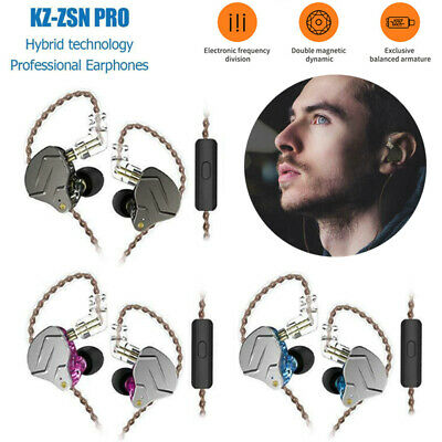 Pro Metal Wired Earphones 1BA+1DD Hybrid HIFI Bass Earbuds In Ear Stereo Headset