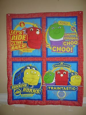 New Handmade Baby Quilt (Blanket)  - CHUGGINGTON TRAINS