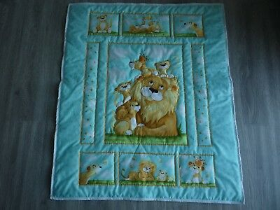 New Handmade Baby Quilt (Blanket)  - Lyon the Lion