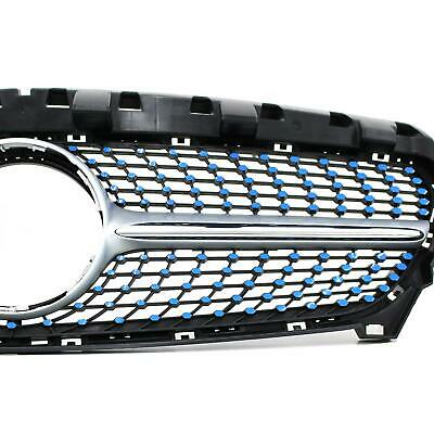 Azure Blue Film for Mercedes W117 Facelift Diamond Grille Grille Cover D059