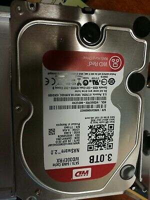 "Western Digital WD Red 3 TB Internal 5400 RPM 3.5"""" -WD30EFRX NAS..."