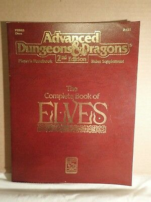 Advanced Dungeons & Dragons 2nd Ed Complete Book of Elves (TSR 2131) SC