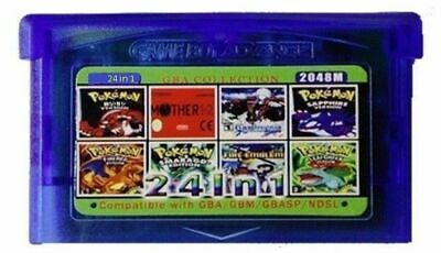 24 in 1 (b) Mother, Pokemon, Castlevania, Metroid + more GameBoy advance GBA