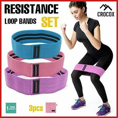 Yoga Resistance Loop Bands Adjustable Workout Exercise Fitness Gym Crossfit 3pcs