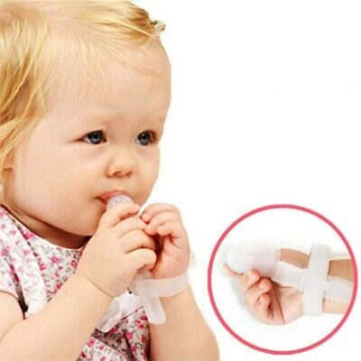 Baby Stop Bite Correction Tool Silicone Thumb-Sucking Finger Guard Treatment Kit