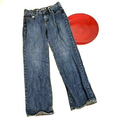 Gap Kids 1969 Boys Jeans Size 10 Husky Original Straight Adjustable Bands Blue