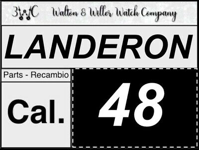 1 pc Landeron Cal. 48 original parts vintage GENUINE manual New NOS 3WC