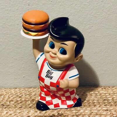 "Big Boy 7"" Coin Piggy Bank 2010 Restaurant Mascot Frisch's Bobs Shoneys"