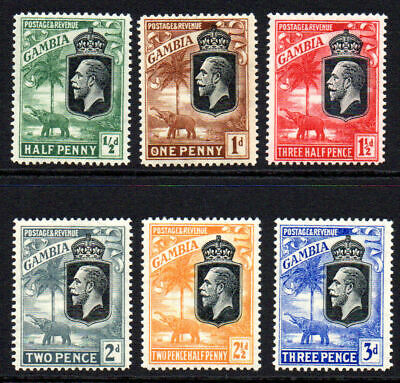 Gambia 6 Stamps c1922-29 Mounted Mint