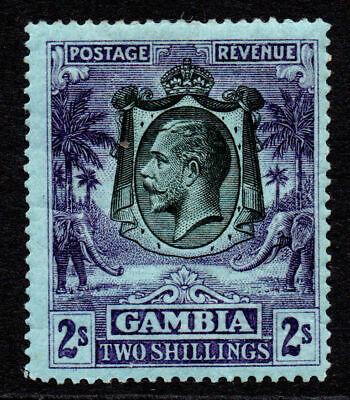 Gambia 2/- Stamp c1922-29 Mounted Mint (gum wrinkles)