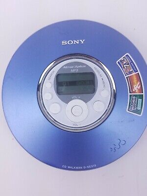 Sony Walkman Atrac3plus D-NE319 Portable MP3 CD-R/RW Player Blue G-Protection