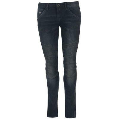 G STAR RAW 5620 Custom Mid Skinny Womans Black Coated Jeans