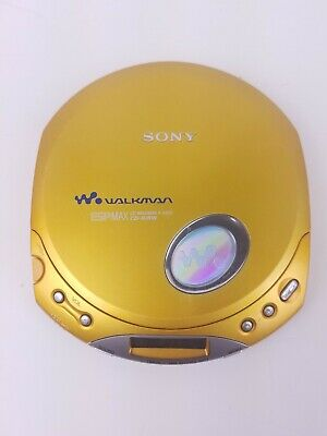 Sony Walkman D-E350 Portable MP3 CD-R/RW Player Yellow ESP Max